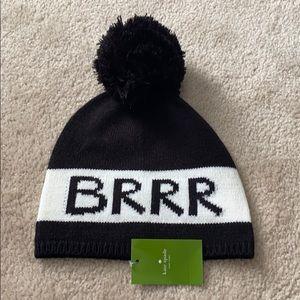 NWT Kate spade BRRR beanie hat
